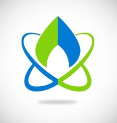 Water planet bio ecology logo vector