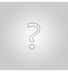 Question mark sign icon vector