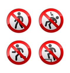 Set prohibited signs - man vector