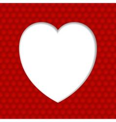 White heart valentine vector