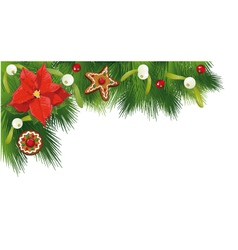 Christmas border fir vector