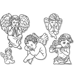 Little angel set vector