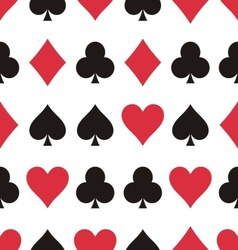 Play cards pattern vector