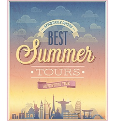 Summer tours vector