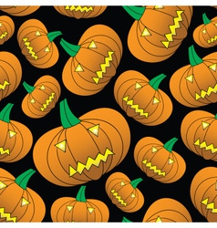 Halloween carved pumpkin seamless pattern eps10 vector