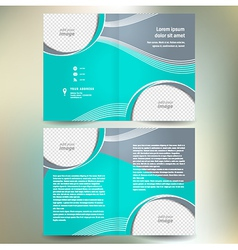 Brochure folder design template abstract vector