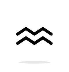 Aquarius zodiac icon on white background vector