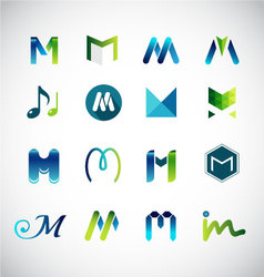 Logo design based on letter m vector