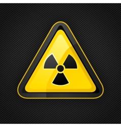 Hazard radioactive sign vector