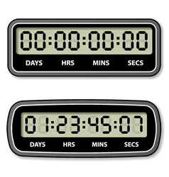 Black lcd counter - countdown timer vector
