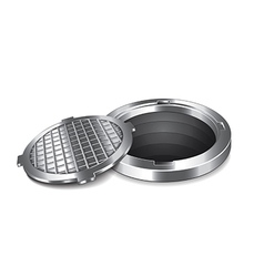 Manhole isolated vector