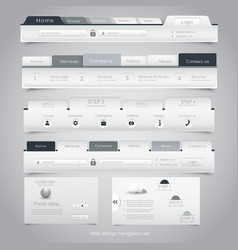 Web site navigation menu pack 24 vector