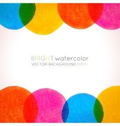 Background with bright colorful watercolor painted vector