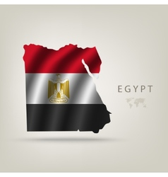Flag of egypt as a country vector