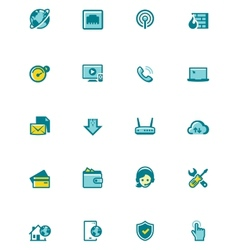 Internet service provider icon set vector
