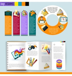 Design infographics set vector