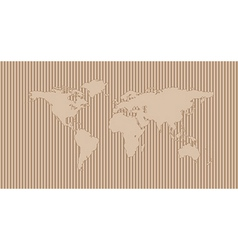World map on corrugated background vector