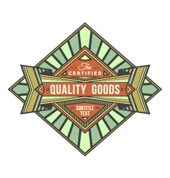 Abstract colored retro badge label vector