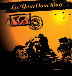 Motorcycle rider background vector