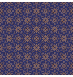 Blue colors asian damask pattern vector