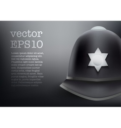 Helmet of british police background vector