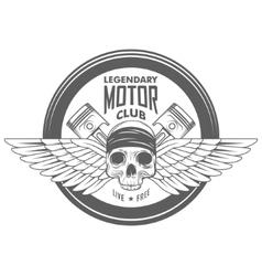 Vintage motorcycle label badge vector