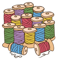 Colored threads vector