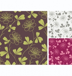 Floral background fabric vector