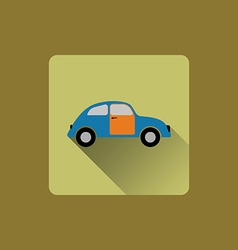 Cartoon car flat icon vector