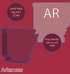 Arkansas 3d info graphic vector