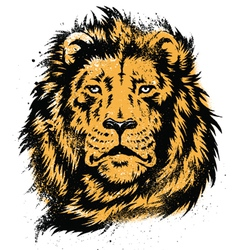 Lion head stencil vector