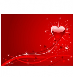 Sparkle red valentine background vector