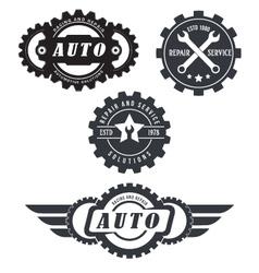 Auto repair logos vector