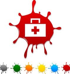 Medical blot vector