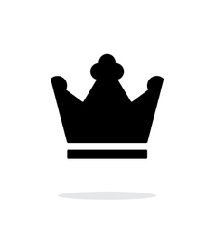Crown king icon on white background vector