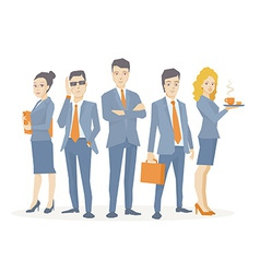 A business team of young business people vector