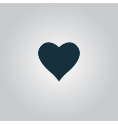 Heart pictogram vector