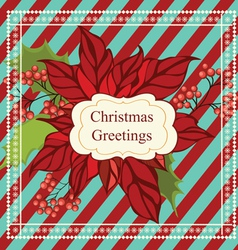 Christmas greeting card with frame vector