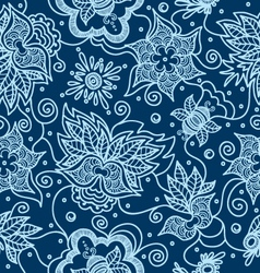 Pattern with indian design elements vector