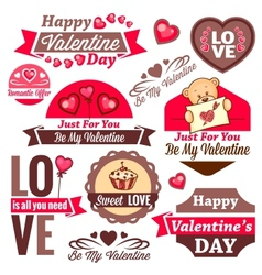 Valentines day logos vector