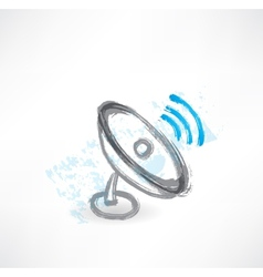 Antenna grunge icon vector