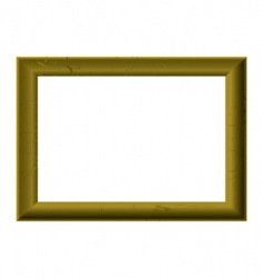 Gold picture frame vector
