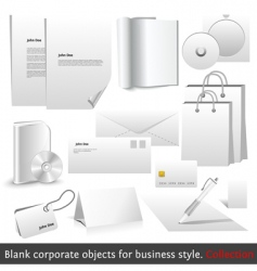 Blank corporate objects vector