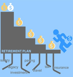 Retirement plan vector