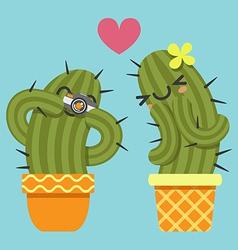 Camera cactus vector
