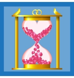 Hourglass of love vector