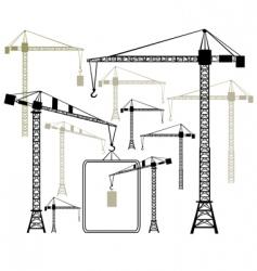 Cranes silhouettes vector