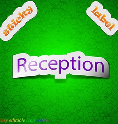 Reception icon sign symbol chic colored sticky vector