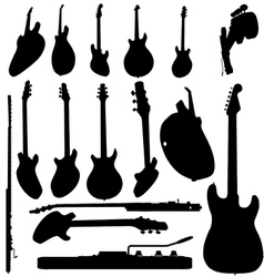 Electric guitar silhouette vector