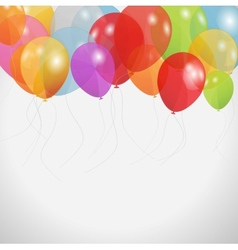 Colored balloons vector